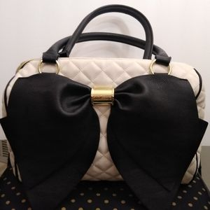 Betsy Johnson big black bow purse